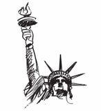 Freiheitsstatue Zeichnung Stockfoto