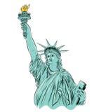 Freiheitsstatue Zeichnung Stockfotos