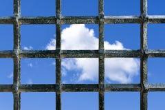 Freiheitswunsch vom Gefängnis stockfotografie