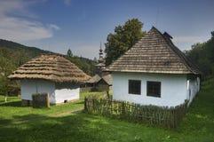 Freilicht musem bei Bardejov, Slowakei lizenzfreie stockfotos