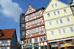 Freilichtmuseum de construção velho Hessenpark, Alemanha imagens de stock