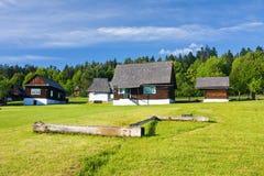 Freilichtvolksmuseum, Slowakei Stockbild