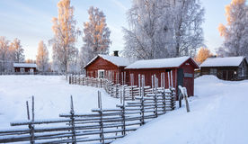 Freiluft-musem in Gammelstad, Schweden Stockfoto