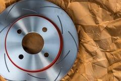 Frein à disque c'est une partie d'utilisation de voiture pour l'arrêt la voiture Photographie stock libre de droits