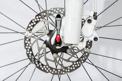 Frein à disque de bicyclette - image courante Photographie stock