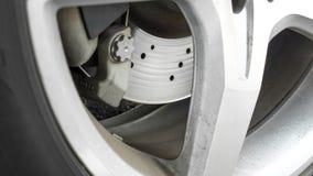 Frein à disque utilisé par plan rapproché avec la roue et le copyspace d'alliage photo libre de droits
