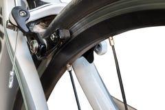 Frein d'un vélo de route de course Photos stock
