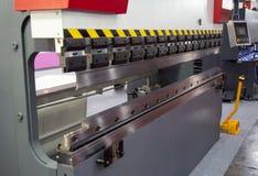 Frein de presse hydraulique de commande numérique par ordinateur images stock