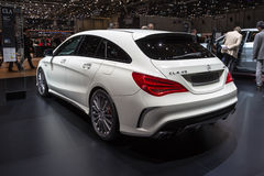 Frein 2015 de tir de Mercedes-Benz CLA45 AMG Image libre de droits