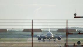Freinage à fuselage large d'avion clips vidéos