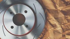 Freio de disco é uma parte do uso do carro para a parada o carro Imagem de Stock