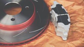 Freio de disco é uma parte do uso do carro para a parada o carro Imagens de Stock
