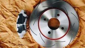 Freio de disco é uma parte do uso do carro para a parada o carro Fotos de Stock