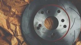 Freio de disco é uma parte do uso do carro para a parada o carro Fotografia de Stock Royalty Free