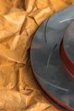Freio de disco é uma parte do uso do carro para a parada o carro Foto de Stock