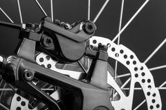 Freio de disco de uma bicicleta Fotografia de Stock