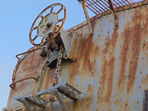 Freio de mão oxidado de HDR Imagem de Stock Royalty Free