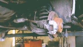 Freios da oxidação Substituição no auto serviço filme