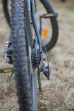Freios de disco da bicicleta em uma roda Foto de Stock