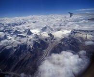 Freira e Kun, escala de Himalyan, Ladakh Imagens de Stock