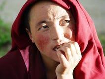 Freira tibetana Fotografia de Stock Royalty Free