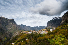 Freiras de Curral DAS - vale das freiras, Madeira. Foto de Stock Royalty Free