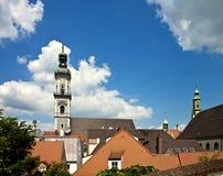 Freising, alte Stadt im Bayern, Stadtansicht Lizenzfreies Stockfoto