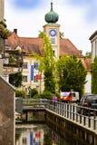 Freising, alte Stadt im Bayern, Stadtansicht Lizenzfreie Stockbilder