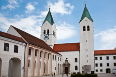 Freising Cathedral, also calles Saint Mary and Corbinian Cathedral, in Freising, Bavaria, Germany Stock Photos