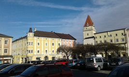 Freistadt old City Austria. Old City in Europa stock photography