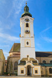Freistadt Baroque Church, Austria. Freistadt Baroque Church, Upper Austria Stock Images
