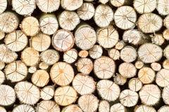 Freistehender Stapel des Brennholzes, nahtlos Stockfoto