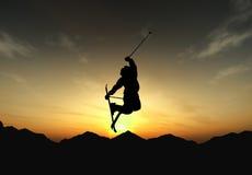 Freistil im Sonnenuntergang lizenzfreie stockfotografie