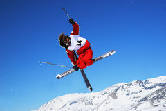 Freistil-Skifahrer Lizenzfreies Stockfoto