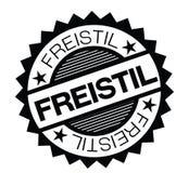 Freistilstempel auf Deutsch lizenzfreie abbildung
