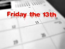 Freitag das 13. Konzept Lizenzfreie Stockfotos