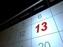 Freitag, den 13. Lizenzfreie Stockbilder