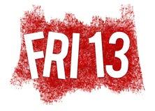 Freitag, den 13. im Blut Stockfotografie