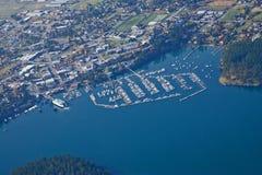 Freitag-Hafen-Luftaufnahme Stockbild