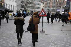 FREITAG-KÄUFER Stockfotos