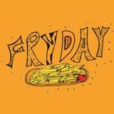 Freitag-Lebensmittelplakat Stockfoto