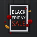 Freitag-Plakathintergrund des Vektors schwarzer Lizenzfreie Stockfotografie