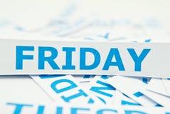 Freitag-Wortbeschaffenheitshintergrund. Stockbild