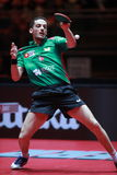FREITAS Marcos top spin. FREITAS Marcos from Portugal top spin. Men`s Singles Round of 32 world table tennis championships in Dusseldorf. 29 May 6 june 2017 Stock Photo