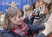 Freiwilliger von der Buch-Schleife, Großbritannien volutary lizenzfreie stockfotografie