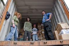 Freiwilliger von der Buch-Schleife, Großbritannien volutary lizenzfreie stockfotos