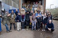 Freiwilliger von der Buch-Schleife, Großbritannien volutary stockbild