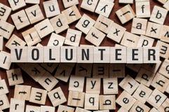 Freiwilliges Wortkonzept stockbilder
