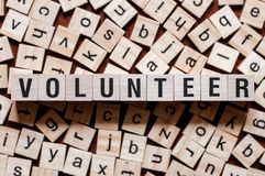 Freiwilliges Wortkonzept stockfoto