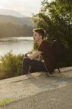 Freizeit auf einem See Stockbilder
